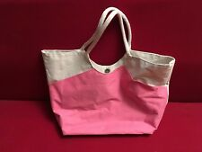 Borsa donna due manici + pochette. Bianco/Rosa.
