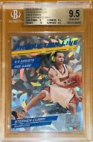 2010 Stephen Curry DONRUSS CRACKED ICE RACK PACK REFRACTOR 54 BGS 9.5 10 sub PSA