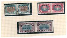 SOUTH WEST AFRICA SWA 1939 LANDING OF HUGUENOTS SET OF 3 BILINGUAL PAIRS LMM