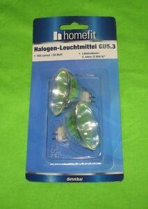 2 Stück Homefit Halogen - Leuchtmittel GU5.3  20W 180 Lumen dimmbar