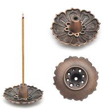 9Hole Lotus Incense Burner Holder Flower Statue Censer Plate For Sticks&Cone Hot