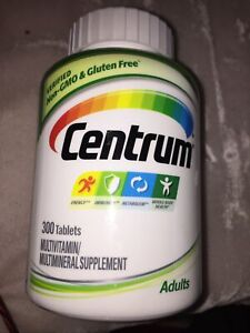 NEW! Centrum ADULTS Multivitamin/Multimineral 300 Tablets N