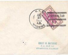 USA NAVAL Cover Used *GIBRALTAR BP* Illinois Evanston 1935 {samwells-covers}U172