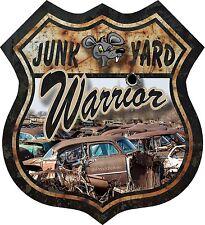 """ProSticker 826 (One) 5"""" Route 66 Junk Yard Warrior Decal Sticker Rat Hot Rod"""