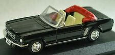 1964 FORD MUSTANG BLACK 1:43 NEW RAY DISPLAY BASE & CASE in WINDOW BOX NOS MINT
