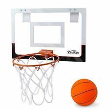 "YardFine Mini Basketball Hoop Over The Door 18"" x 12"" with Basketball & Pump ..."