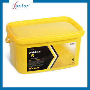 Virkon S disinfettante in polvere uso veterinario per ambienti e strumenti 5 kg