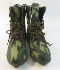 Camouflage Ankle Lace Rugged Military Combat Motorcycle Winter Boot Size 7