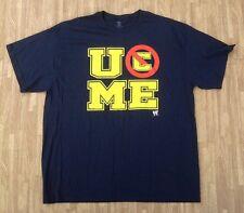 John Cena U Can't C Me WWE Authentic Shirt ~ Men's XL ~ Navy Blue Special Edit