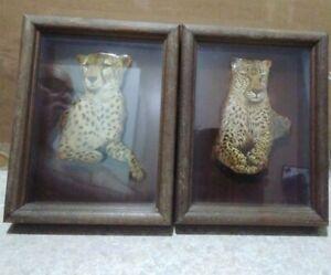 2 Thomas Emery SIGNED 3-D Art Original Tigers Tote G2