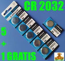 5 X BATERIA LITHIUM CR2032 LITIO 3V PILA BOTON + 1 DE REGALO CHOLLO OFERTA