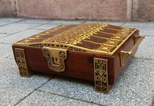 Erhard und Söhne Art Nouveau Wooden Box Brass Details and Inlay Jugendstil Box