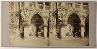 Venezia Italia Foto Stereo PL46Th2n22 Vintage Albumina c1865