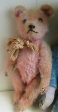 Antique Pink Colored French teddy bear dated 1930's color teddy