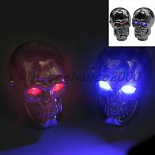 Universal Car Red LED Skull Manual Gear Stick Shift Knob Shifter Lever Cover New
