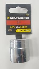 """GearWrench 1"""" SAE Standard 6 Point Socket 3/8"""" Drive 80362"""