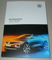 Betriebsanleitung VW T-Roc Typ A1 Cabrio Bedienungsanleitung Buch 12/2019 NEU!