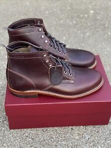 """Wolverine Original 1000 Mile 6"""" Boots Cordovan No. 8 Leather 9.5 D Men's Lace Up"""