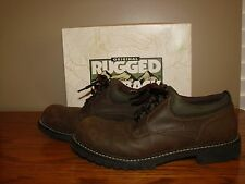 Rugged Outback Brown Casual Shoes US Size 6 Medium Men's Cafe Oxford Lace-up