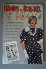 MODES ET TRAVAUX MARS 1984 couture tricot broderie N°1000 PAGE POUPEES