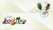 Australia 2016 FDC Jewel Beetles 2v S/A Set Cover Beetle Insects Stamps
