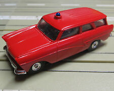 For H0 Slotcar Racing Model Railway Ford 17 M Fire Brigade by Bauer