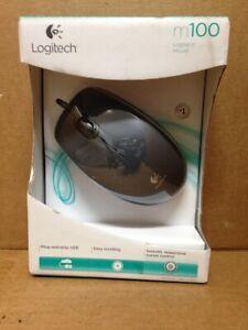 Logitech - M100 Optical Mouse - Black