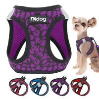 Reflective Soft Mesh Step-in Dog  Harness Lead Small Dog Cat Walking Vest Purple
