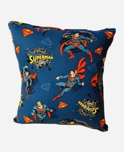 Superman Pillow Classic DC Comics Pillow Super Man Flying Pillow Handmade in USA