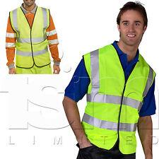 Amarillo Alta Visibilidad Chaleco de seguridad Compulsory equipación driving EN