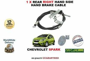 FOR CHEVROLET SPARK 1.0 1.2 2010-> NEW 1 X REAR RIGHT HAND BRAKE CABLE 95227772