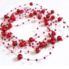 Lot 5PCS 1.3M XMAS String Pearl Acrylic Bead Garland Spool Bouquet Wedding Decor