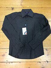 Ben Sherman Blue Label Long Sleeve Shirt/Black - Small