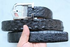 Black Genuine Alligator CROCODILE BELT Skin Leather Men's - W 1.3''