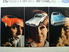 1967 FORD MUSTANG 2+2 FASTBACK, COUGAR & THUNDERBIRD FORD 2-PAGE ORIGINAL AD