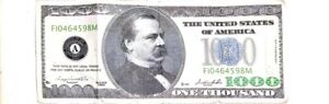 2005 A $1000 One Thousand Dollar Bill Federal Reserve Note G00190785 A