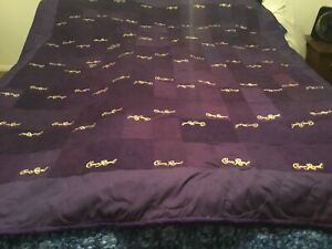 Crown Royal Purple Bag Large Throw Quilt