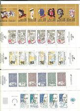 France 1986 à 2000 . 15 Carnets Personnages Célèbres LUXE** non pliés COTE 125 €