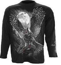 Gothic Metal Biker Wacken Longsleeve  Tshirt Shirt Hemd Pullover schwarz Uhu  M