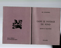 Petite rareté > Gil JOUANARD Dans le paysage du fond. Ed Solaire 1976. Numéroté