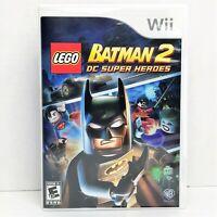 LEGO Batman 2: DC Super Heroes (Nintendo Wii, 2012) Brand New, Read Description