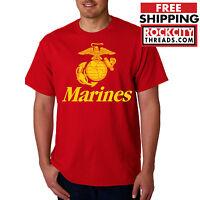 MARINES T-SHIRT Usmc Us Semp Marine Corps Semper Fi US Corp PT Military Shirt