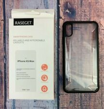 Raseget ipone Xs Max Case Transparent Slim Flexible TPU Shell AIR Cushion Black