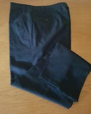New Size 38 Long Blue Linen Blend Chinos, Tapered Casual Trousers, Slim fit