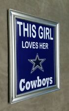 Dallas Cowboys This Girl Loves Her Cowboys Framed 8x10 Photo