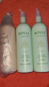 Lot of JAFRA 3 ROYAL PRODUCTS  ALMOND BODY OIL 2 pc GINGER LOTION OIL ALL SEALED