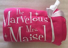 NEW Amazon Original The Marvelous Mrs. Maisel Blanket -Pink/White