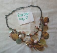Avon mother of pearl multicoloured disk necklace