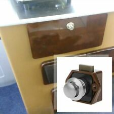 Push Button Mini Boat Mortorhome Showcase Door Catch Lock Van RV Caravans Drawer