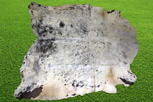 """New Cowhide Rugs Hair On COW HIDE Rugs Area Cow Skin Leather Rugs (52"""" x 58"""")"""